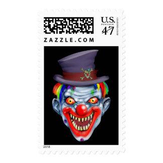 Happy Teeth Clown Postage Stamp