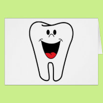 Happy teeth customizable for your Dental practice Card