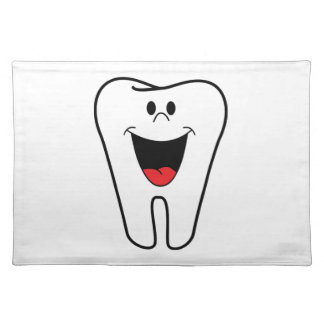 Happy teeth customizable for your Dental practice Cloth Placemat