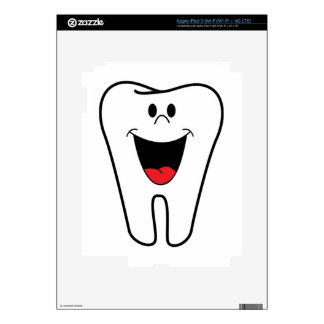 Happy teeth customizable for your Dental practice Decals For iPad 3