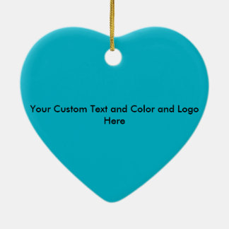 Happy teeth customizable for your Dental practice Double-Sided Heart Ceramic Christmas Ornament