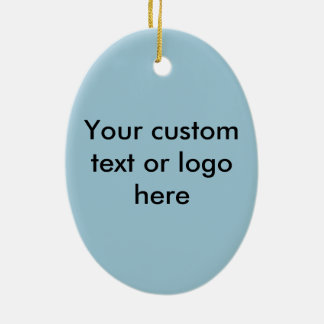Happy teeth customizable for your Dental practice Double-Sided Oval Ceramic Christmas Ornament