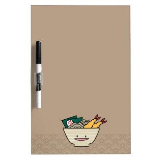 Happy Tempura Ramen Bowl Dry-Erase Board