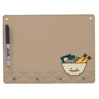 Happy Tempura Ramen Bowl Dry Erase Board With Keychain Holder