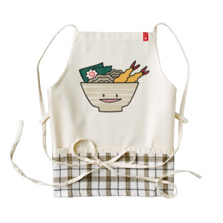 Happy Tempura Ramen Bowl Zazzle HEART Apron
