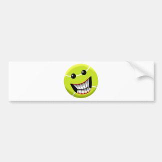 HAPPY TENNIS BALL BUMPER STICKER
