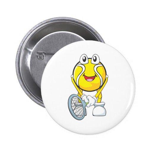 Happy Tennis Ball Button