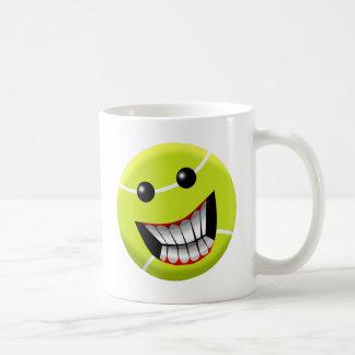 HAPPY TENNIS BALL COFFEE MUG
