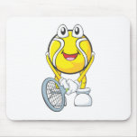 Happy Tennis Ball Mouse Pad
