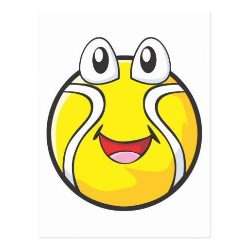 Happy Tennis Ball Postcard
