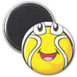 Happy Tennis Ball Refrigerator Magnets