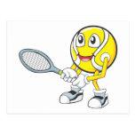 Happy Tennis Player Postcard