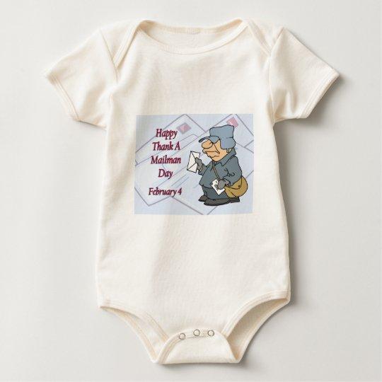 Happy Thank a Mailman Day February 4 Baby Bodysuit