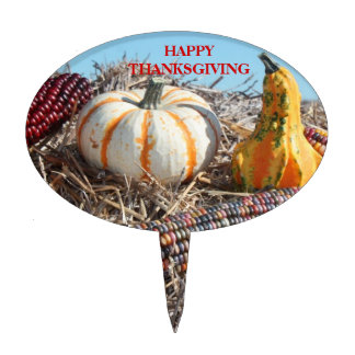 HAPPY THANKGIVING CAKE TOPPER