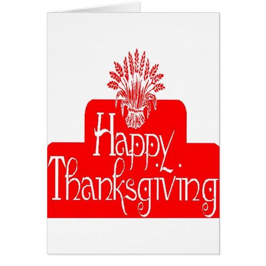 HAPPY THANKGIVING CARD