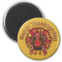 HAPPY THANKGIVING TURKEY by SHARON SHARPE Magnet