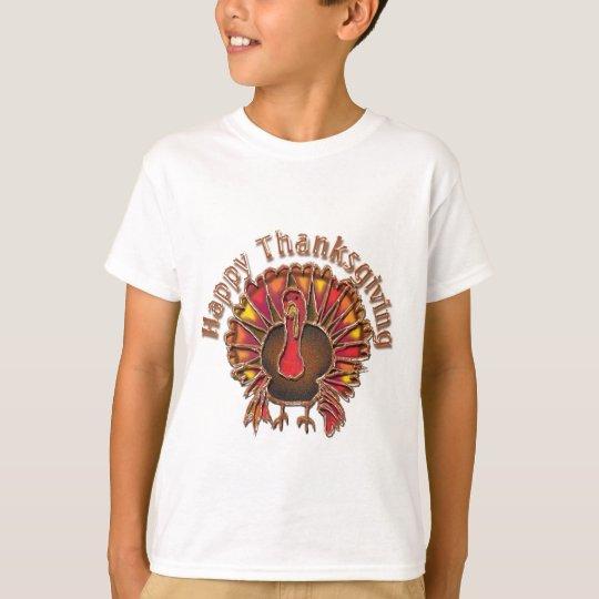 HAPPY THANKGIVING TURKEY by SHARON SHARPE T-Shirt