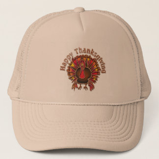 HAPPY THANKGIVING TURKEY by SHARON SHARPE Trucker Hat