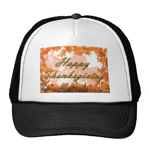 happy thanks giving 2013 celebration mesh hats