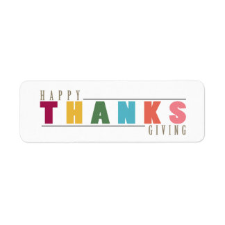 Happy THANKS Giving Sticker Labels
