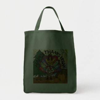 Happy Thanks-Vegan Thanksgiving Turkey Gifts Bag