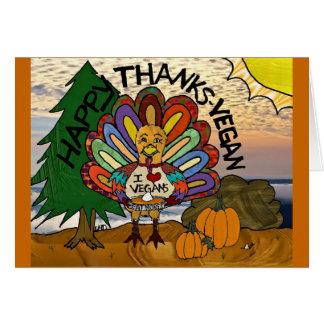 Happy Thanks-Vegan Thanksgiving Turkey Gifts Greeting Card