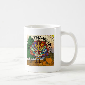 Happy Thanks-Vegan Thanksgiving Turkey Gifts Coffee Mugs