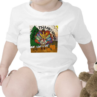 Happy Thanks-Vegan Thanksgiving Turkey Gifts Rompers