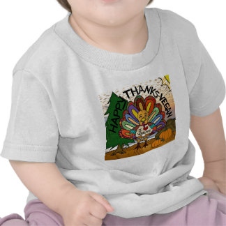 Happy Thanks-Vegan Thanksgiving Turkey Gifts Tee Shirts