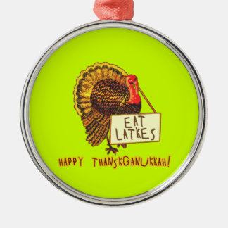 Happy Thanksganukkah EAT LATKES Christmas Tree Ornament