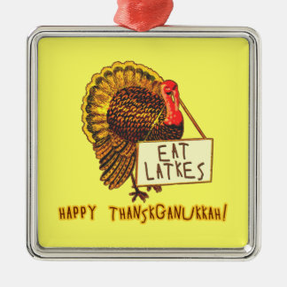 Happy Thanksganukkah EAT LATKES Christmas Ornaments
