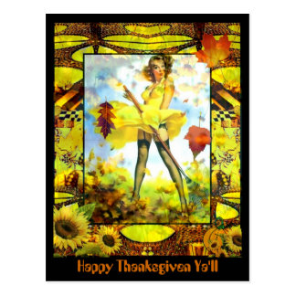 Happy Thanksgiven Ya'll Postcard