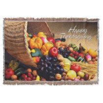 Happy Thanksgiving 12 Throw Blanket