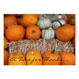 Happy Thanksgiving 2010 Pumpkin Notecard