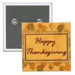 Happy Thanksgiving 2 Inch Square Button