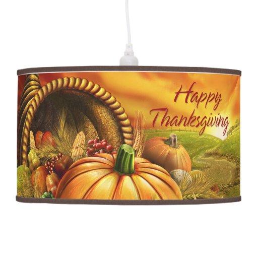 Happy Thanksgiving 2 Lamp Options Zazzle