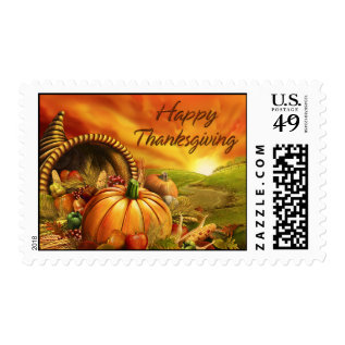 Happy Thanksgiving 2 Postage at Zazzle