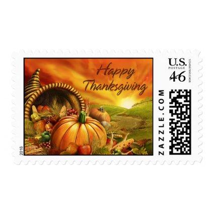 Happy Thanksgiving 2 Postage