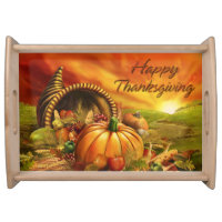 Happy Thanksgiving 2 Serving Tray