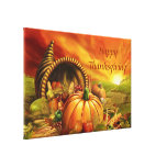 Happy Thanksgiving 2 Wrapped Canvas Stretched Canvas Print
