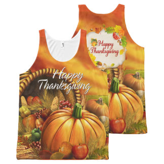 Happy Thanksgiving 2A Options All-Over-Print Tank Top