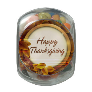 Happy Thanksgiving 3 Candy Container Jelly Belly Candy Jars