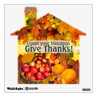 Happy Thanksgiving # 3 ~  Decal Wall Graphic