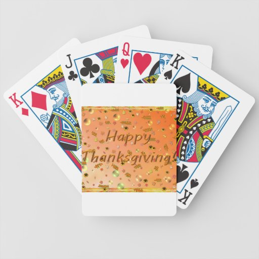 Happy Thanksgiving 3 Playing Card Deck