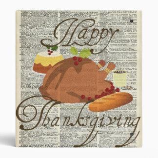 Happy Thanksgiving 3 Ring Binders