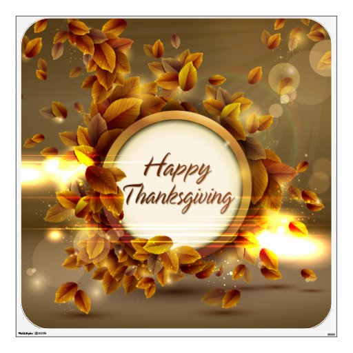 Happy Thanksgiving 3 Wall Decal