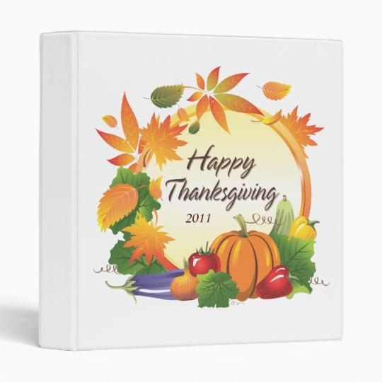 Happy Thanksgiving 5 Binder