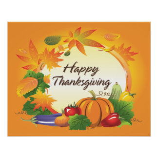 Thanksgiving Posters | Zazzle
