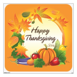 Happy Thanksgiving 5 Wall Decal
