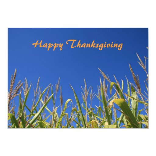Happy Thanksgiving 5x7 Paper Invitation Card